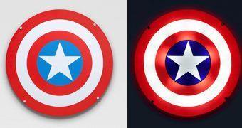 Luminária de Parede Escudo do Capitão América