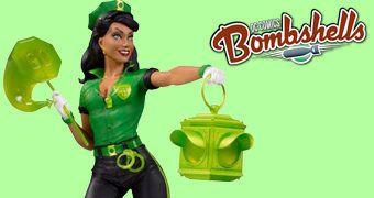 Estátua Green Lantern Jessica Cruz DC Bombshells em Estilo Pin Up Anos 40