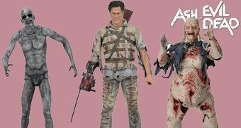Action Figures Ash vs Evil Dead: Ash Hospício, Demon Spawn e Henrietta