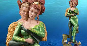 Estátua Aquaman e Mera Amor no Fundo do Mar