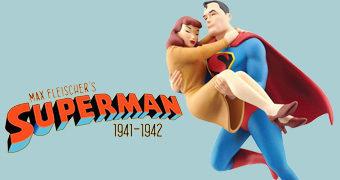 Estátua Superman Resgata Lois Lane