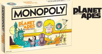 Jogo Monopoly Planeta dos Macacos Estilo Vintage 1968