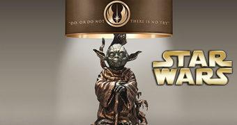 Abajur Mestre Yoda de Bronze (Star Wars)