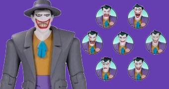 Action Figure Coringa com 8 Expressões Faciais (The Animated Series)