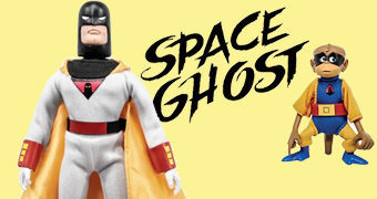 Action Figures Retro Space Ghost, Jace, Jan e Blip (Hannna-Barbera)