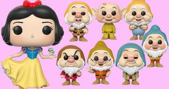 Bonecos Pop! Branca de Neve e os Sete Anões