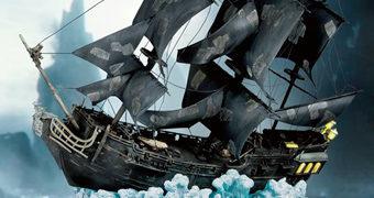 Réplica Perfeita do Navio Pirata Pérola Negra em Escala 1:144 (Piratas do Caribe)