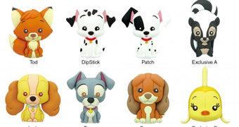 Chaveiros Bichos Disney 3D Monogram Figural Keyrings