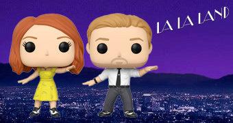 Bonecos Pop! La La Land: Sebastian (Ryan Gosling) e Mia (Emma Stone)