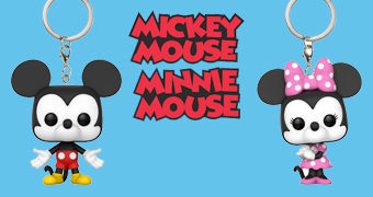 Chaveiros Funko Pocket Pop! Mickey e Minnie (Disney)