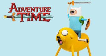 Jake e Finn Estátua Gigante Hora de Aventura