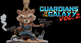 Rocket e Groot Q-Fig – Figura Chibi Guardiões da Galáxia Vol 2