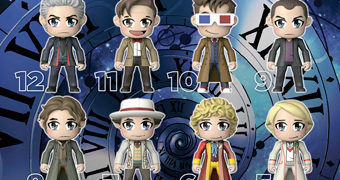 Mini-Figuras Kawaii TITANS Doctor Who: Os 12 Doctors