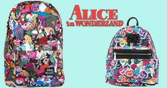 Mochilas Loungefly Disney: Alice no País das Maravilhas