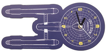 Relógio de Parede Star Trek U.S.S. Enterprise Diagrama Blue Print