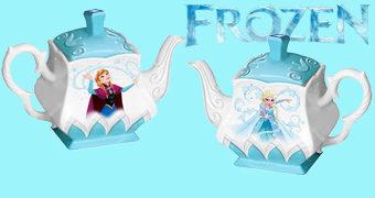 Bule de Chá Frozen com Anna e Elsa