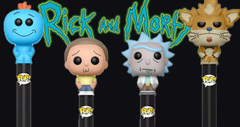 Canetas Funko Pop! Pen Rick and Morty