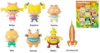 Chaveiros Clássicos da Nickelodeon 3D Monogram Figural Keyrings Série 2