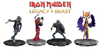Mini-Figuras do Game Iron Maiden Legacy of the Beast (Blind Box)