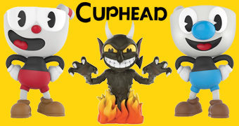 Bonecos Funko do Game Cuphead