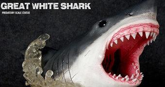 Estátua Grande Tubarão-Branco Discovery Channel