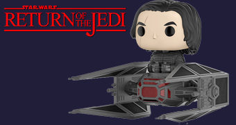 Kylo Ren e TIE Fighter Boneco Pop! Deluxe Star Wars: Os Últimos Jedi