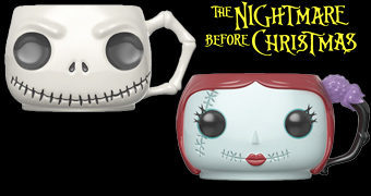 Canecas Funko Pop! Nightmare Before Christmas: Jack e Sally