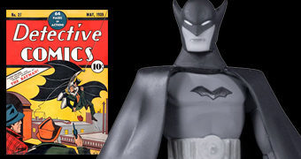 Action Figure Batman Black and White 1º Aparição por Bob Kane
