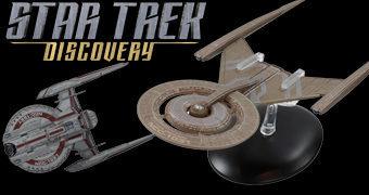 Star Trek Discovery Espaçonaves de Metal Die-Cast: U.S.S. Shenzhou e U.S.S. Discovery