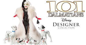 Cruella De Vil e Dálmatas Disney Designer Folktale – Boneca de Luxo 101 Dálmatas