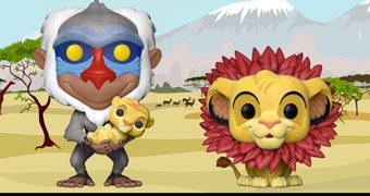 O Rei Leão Pop! – Bonecos Flocados Simba e Rafiki