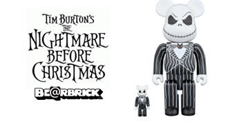 Bonecos Medicom Bearbrick Jack Skellington (The Nightmare Before Christmas)