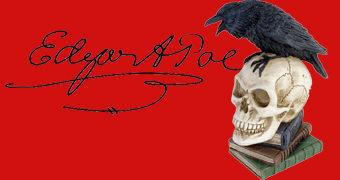 Estátua O Corvo de Edgar Allan Poe