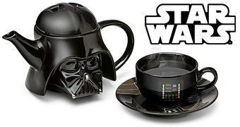 Aparelho de Chá Star Wars Darth Vader com Bule e Xícaras