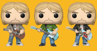 Bonecos Pop! Rocks Kurt Cobain (Nirvana)