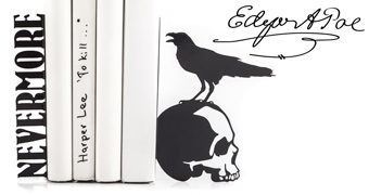 Nevermore Raven Bookends – Apoios de Livros Edgar Allan Poe