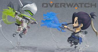 Bonecos Nendoroid Overwatch: Irmãos Genji e Hanzo