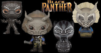 Bonecos Dorbz e Pop! Pantera Negra (Black Panther Movie)