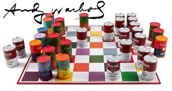 Xadrez Andy Warhol Latas de Sopa Campbell