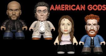 American Gods TITANS Mini – Bonecos Blind-Box da Série de Neil Gaiman