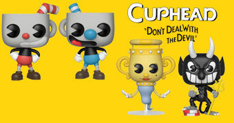 Bonecos Pop! do Game Cuphead