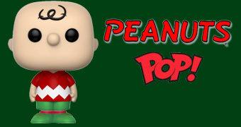 Boneco Pop! Charlie Brown Festivo em Clima Natalino