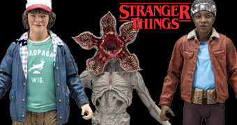 Action Figures Stranger Things McFarlane: Dustin, Lucas e Demogorgon