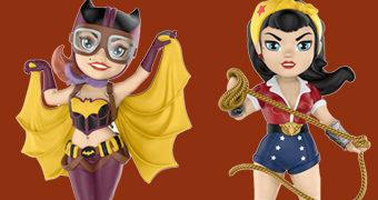 Bonecas Rock Candy DC Bombshells: Mulher Maravilha e Batgirl