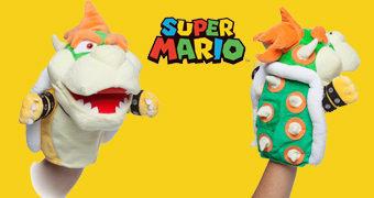 Rei Bowser Koopa Fantoche de Mão Super Mario
