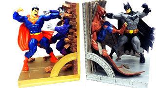 Superman Vs Batman Bookends – Apoios de Livros de Porcelana