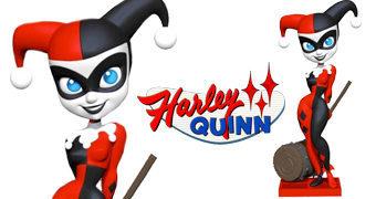 Boneca de Vinil Cryptozoic Harley Quinn DC Classic