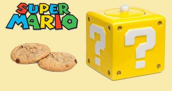 Pote de Cookies Bloco de Interrogação Super Mario