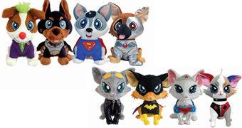 Cães e Gatas de Pelúcia DC Comics Pawzplay (Pets + Cosplay = Pawzplay)