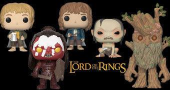 Bonecos Pop! O Senhor dos Anéis com Gollum, Merry, Pippin, Aragorn, Lurtz e Barbárvore